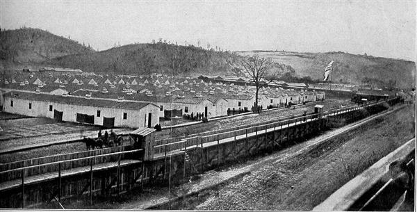 The Only Photograph Showing The Whole Of Elmira Prison Camp